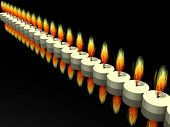 3d (candle see more in my portfolio) poster