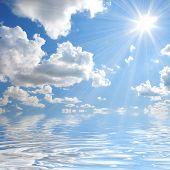 sunny sky background poster
