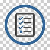 Checklist icon. Vector illustration style is flat iconic bicolor symbol cobalt and gray colors transparent background. Designed for web and software interfaces. poster