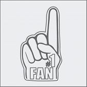 number one fan foam hand sketch poster