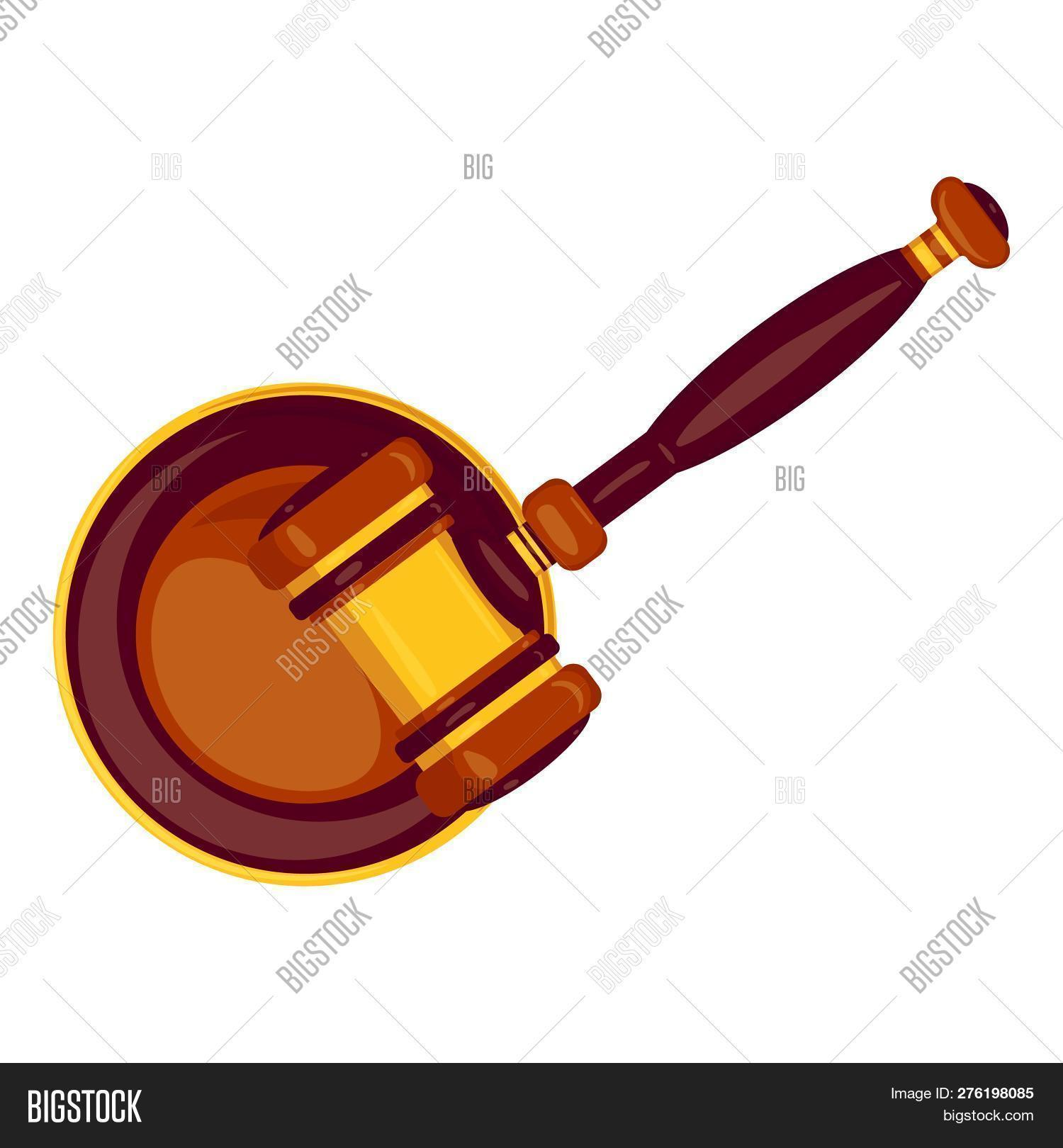 Top View Wood Gavel Image Photo Free Trial Bigstock