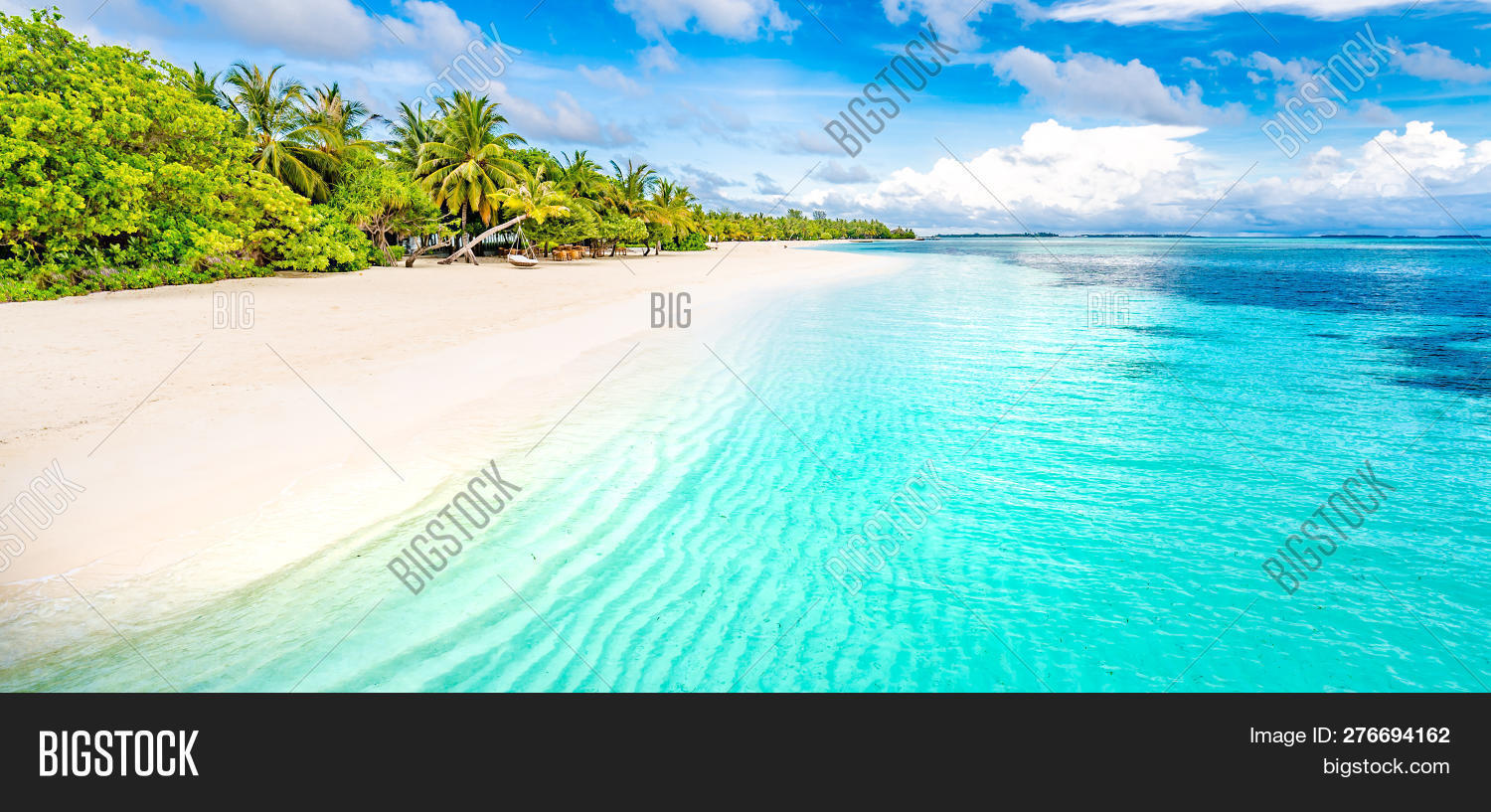 Tranquil Beach Scene Image Photo Free Trial Bigstock