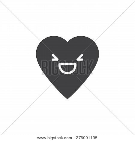 Grinning Squinting Emoticon Vector Icon. Filled Flat Sign For Mobile Concept And Web Design. Grinnin