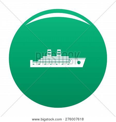Ship Passenger Icon. Simple Illustration Of Ship Passenger Icon For Any Design Green