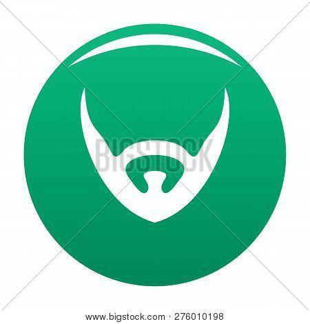 Short Beard Icon. Simple Illustration Of Short Beard Icon For Any Design Green