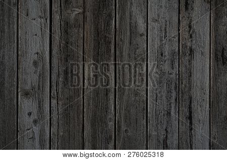 Old Rustic Dark Grey Wooden Planks Background Texture