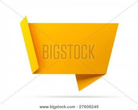 Abstract origami speech bubble background raster version