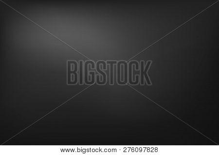 Neutral Dark Background, Abstract Grey Gradient Banner. Vector Illustration