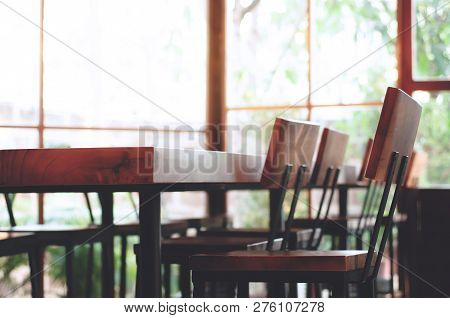 Interior Of Meeting Room  Inside Conference Office  Wooden Table Set