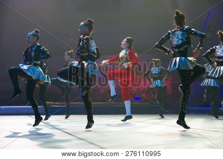 Moscow, Russia - November 16-17, 2018: Team Nitti Gritti, Acrobatic Rock And Roll At The
