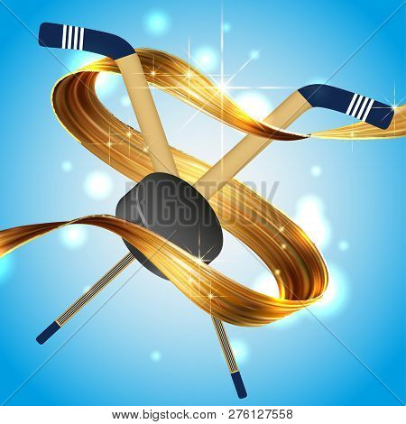 Golden Ribbon Liquid Vector & Photo (Free Trial) | Bigstock