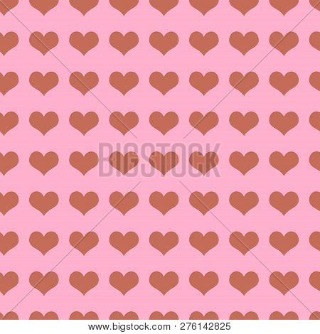 Seamless Texture With Hearts. Template For Craft Paper, Wallpaper, Wrapping Paper, Fabric.