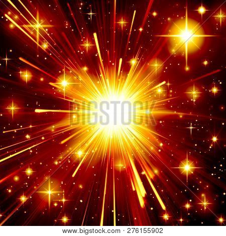 Abstract, Background, Lovely, Black, Bright, Explosion, Holiday, Design, Energy, Explosion, Flaming,