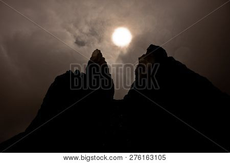 Famous Rock Pinnacles Old Man Of Storr, On A North Hill In The Isle Of Skye Island Of Highlands In S