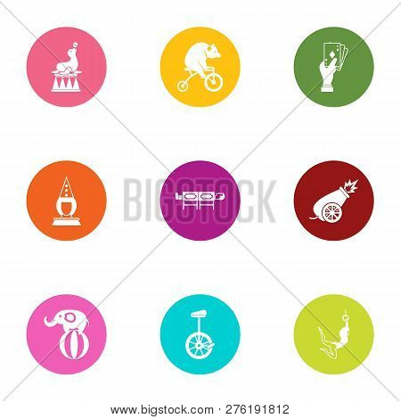 Taming Icons Set. Flat Set Of 9 Taming Icons For Web Isolated On White Background