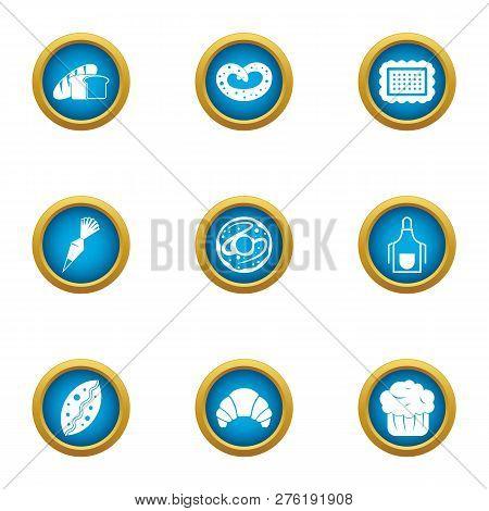 Flapjack Icons Set. Flat Set Of 9 Flapjack Icons For Web Isolated On White Background