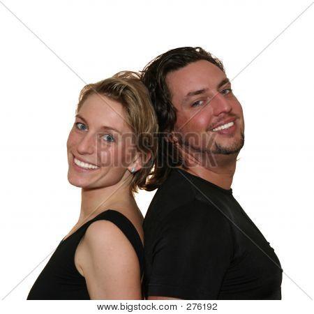 Isolated Couple Back To Back
