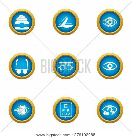 Vision Control Icons Set. Flat Set Of 9 Vision Control Icons For Web Isolated On White Background