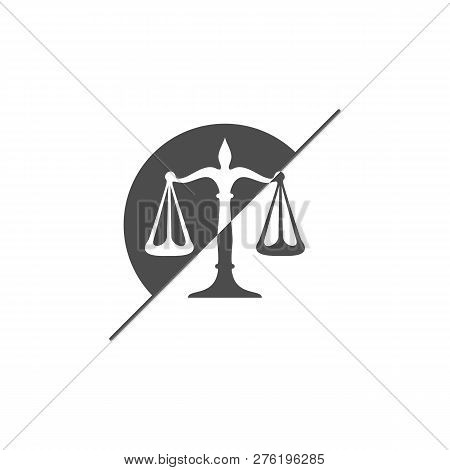 Law Firm Logo Design Template. Scales Logo Concepts. Law Firm Logo Vector