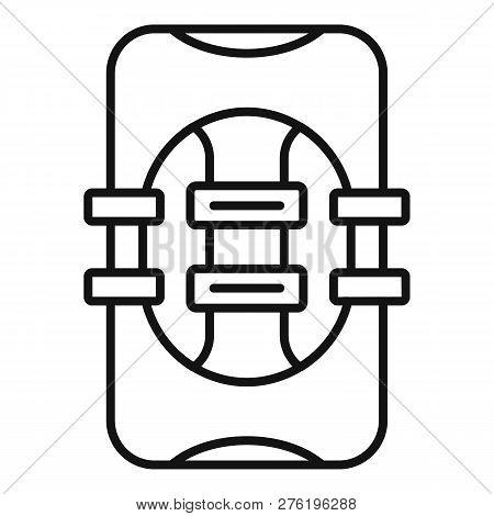 Rescue Vest Icon. Outline Rescue Vest Icon For Web Design Isolated On White Background