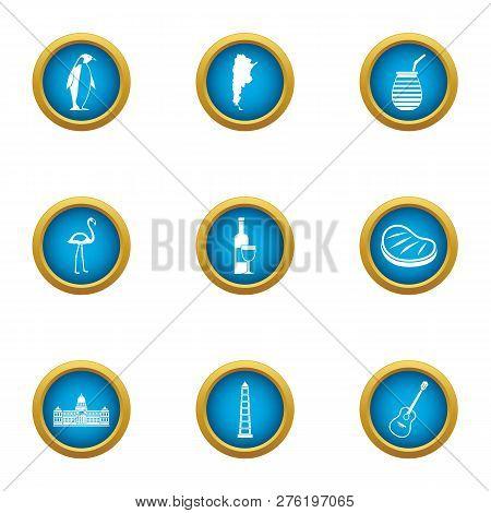 Instinctive icons set. Flat set of 9 instinctive icons for web isolated on white background poster