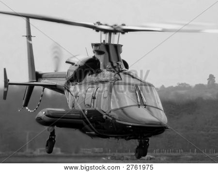 Bell 430 Helicopter Taking Off