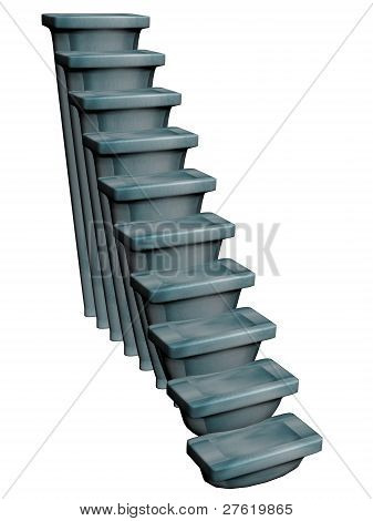 Stair in blue stone