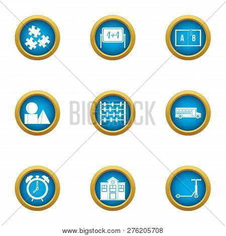 Mathematician Icons Set. Flat Set Of 9 Mathematician Icons For Web Isolated On White Background