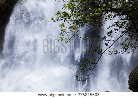 Tam Nang Waterfall In The Forest Tropical Zone National Park Takua Pa Phang Nga Thailand,waterfall B