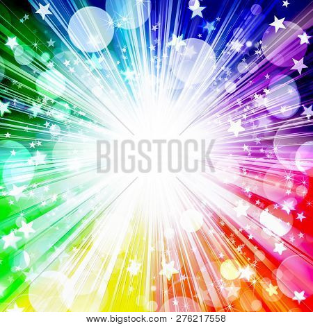Abstract, Art, Background, Background Lovely ,beautiful, Bright, Rainbow, Background, Blue, Bright,
