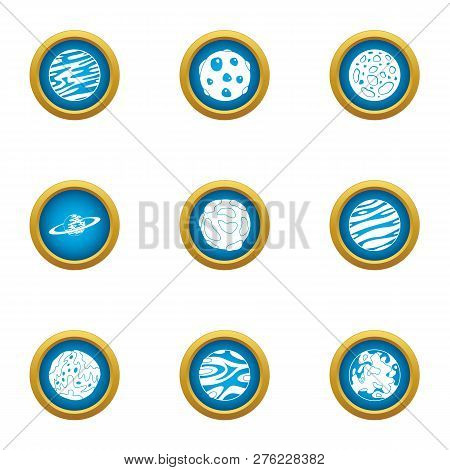 Macrocosm Icons Set. Flat Set Of 9 Macrocosm Icons For Web Isolated On White Background