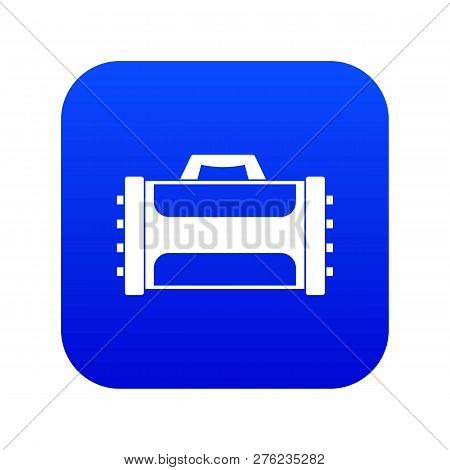 Welding Machine Icon Digital Blue For Any Design Isolated On White Vector Illustration