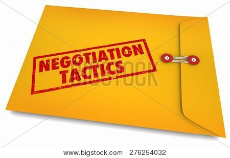 Negotiation Tactics Secrets Yellow Envelope 3d Illustration