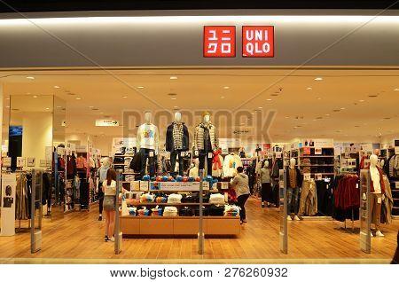 Genting Highlands, Malaysia- Dec 03, 2018: Interior Shot Of Uniqlo Store In Genting Highlands, Malay