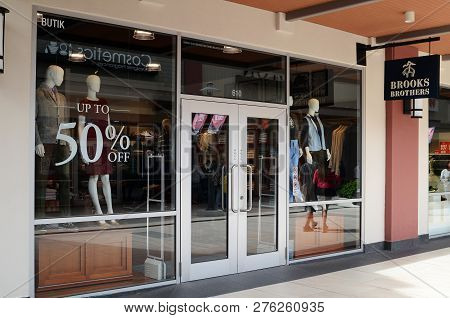 Genting Highlands, Malaysia- Dec 03, 2018 : Brooks Brothers Fashion Store At Genting Highlands, Mala