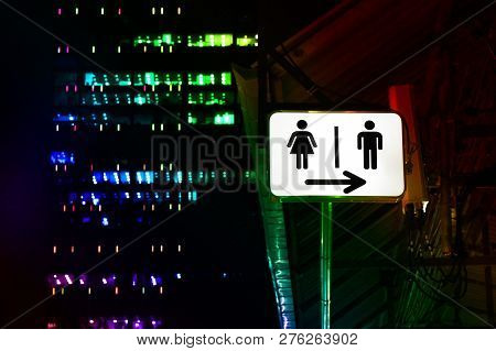 Signs Night Bathroom, Toilet Sign Male - Female, Signs, Lights, Signs, Signs For Toilets In Pubs - P