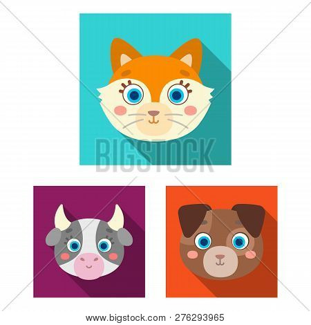 Isolated Object Of Animal And Habitat Sign. Set Of Animal And Farm Stock Vector Illustration.