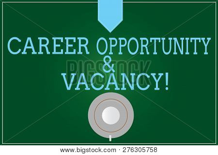 Handwriting Text Writing Career Opportunity And Vacancy. Concept Meaning Job Searching Huanalysis Re