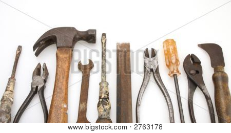 Isolated Old Tool Set