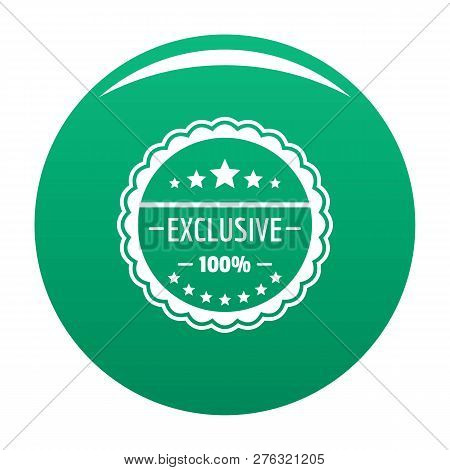 Exclusive Logo. Simple Illustration Of Exclusive Logo For Any Design Green