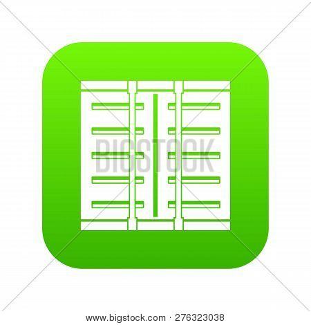 Jalousie Icon Digital Green For Any Design Isolated On White Illustration