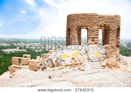 Tower of Ateshkadeh-ye Zoroastrian Fire Temple in Esfahan, Iran
