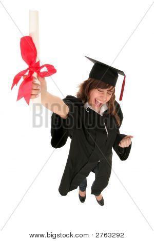 Female Graduate Holding A Degree