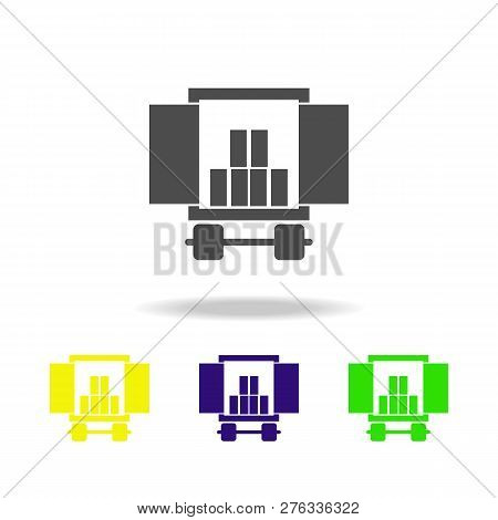 Cargo Compartment Of A Car With A Cargo Multicolored Icons. Signs And Symbols Collection Icon For We