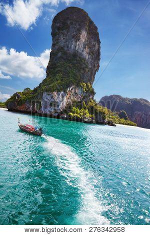 Andaman coast with beautiful rocks and beaches, Krabi province, Thailand