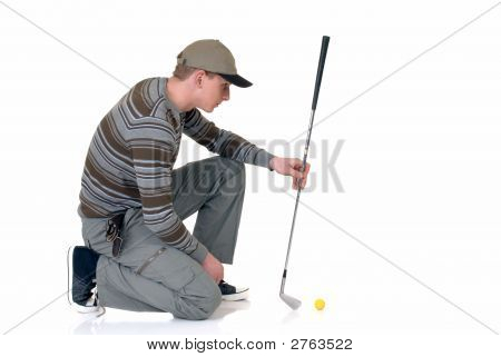 Young Male Golfer