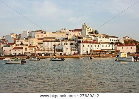 View at Ferragudo in Portugal