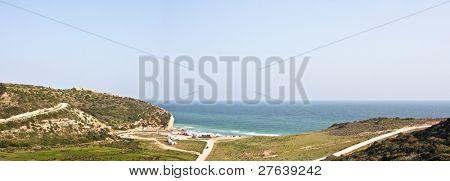 View at Boca de Rio beach at the southcoast in Portugal