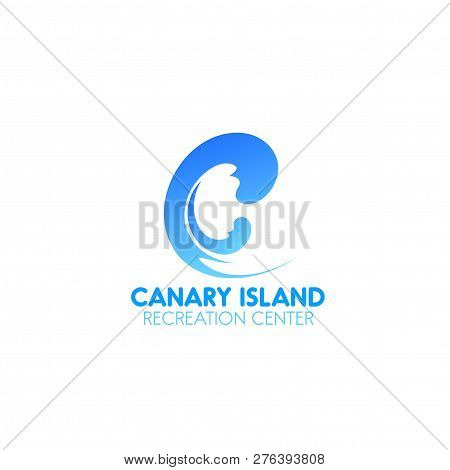 Canary Island Recreation Center Vector Sign Isolated On A White Background. Concept Of Beauty Busine