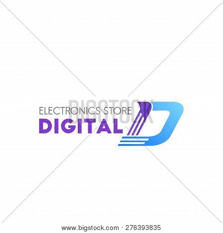 Digital Electronic Store Vector Icon Isolated On A White Background. Concept Of Online Shopping Or O